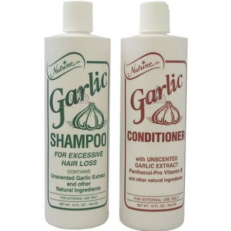 Nutrine Garlic Shampoo + Conditioner 20oz Combo Unscented