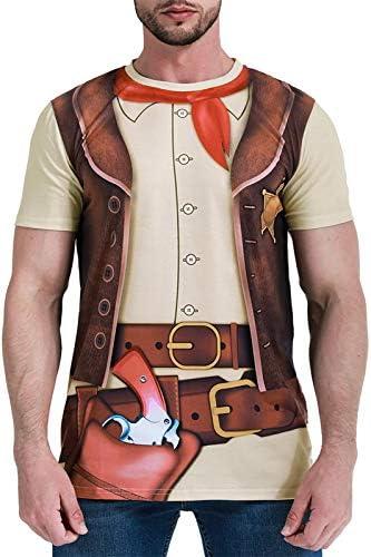 COSAVOROCK Disfraz de Vaquero para Hombre Camiseta