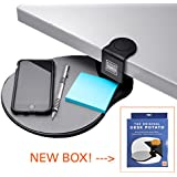 Original Desk Potato by Stand Steady® - Easy Clamp Attachable Desk Shelf / Mouse Pad/ Buy 2 and Make a Keyboard Tray! Best-Seller!