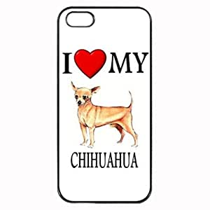 Custom Chihuahua I Love My Dog Photo iPhone 5 5S Case Cover Hard Shell
