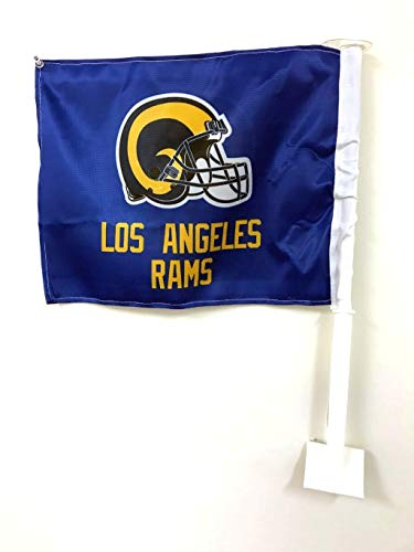 (Los Angeles Rams NFL 11X14 Window Mount 2-Sided Car)