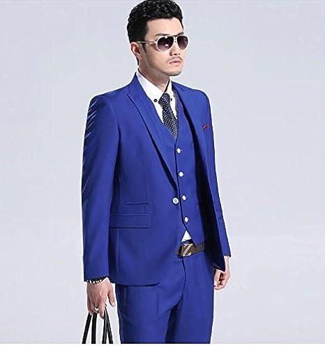 6d9a985c22 YHNSXZ Blazer Abiti Da Uomo Estate Colore Blu Per Abiti Da Sposa Da ...