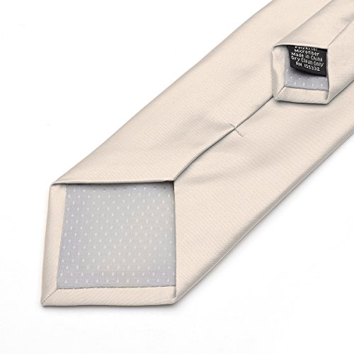 Party Satin Pure Wedding beige Neck Formal Work Ties in Polyester Classic 22 for Plain Colors 20 Solid Men Neckties Color wpOSq4X
