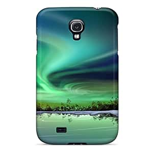 Scratch Protection Hard Cell-phone Case For Samsung Galaxy S4 With Customized Lifelike Northern Lights Iphone Wallpaper Image LisaSwinburnson