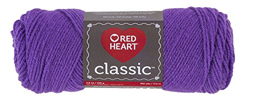Red Heart Yarn Red Heart Classic Bright Violet, Bright Violet (E267.1535)