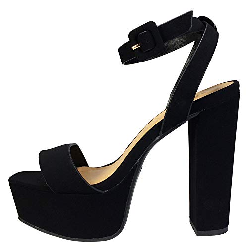 Image of BAMBOO Women's Single Band High Platform Sandal with Ankle Strap