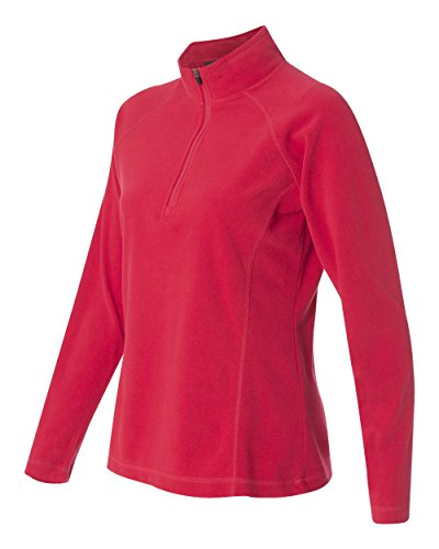 - DRI Duck Women's 9397 Fusion Quarter-Zip Nano-Fleece Pullover Jacket Sweatshirt (Large, Red)