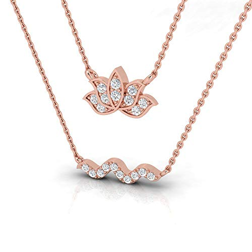 1/4 ctw Lotus Sterling Silver Lab Grown Diamond or Lab Created DiamondPendant for Women. Jewelry Gifts.