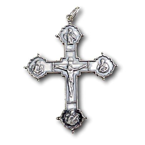 cifix - Sterling Silver Antique Replica (Antique Sterling Silver Crucifix)