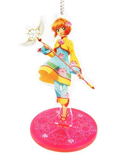 Cardcaptor Sakura Kinomoto Yellow Outfit Character Acrylic Stand Key Chain Collection Anime