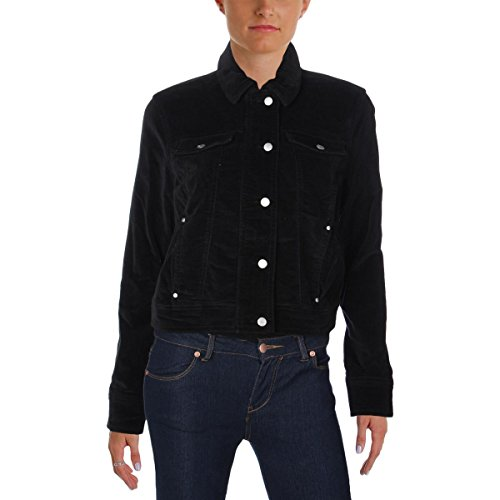 Jacket Velour Sleeve Long - Jessica Simpson Womens Velour Long Sleeves Jacket Black S