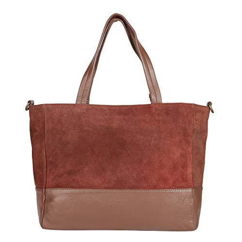 - Kifaaru Vintage Genuine Leather Suede Leather Tote Bag Handbag Shoulder Bag Shopper Purse School Bag For Women Sturdy Durable