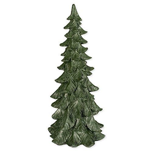 14 Inch Tall Resin Tabletop Spruce Tree Decorative Figurine