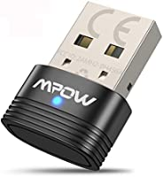 Mpow Bluetooth 5.0 USB Adapter for PC, Bluetooth Dongle Supports Windows 7/8.1/10, for Desktop, Laptop, Mouse, Keyboard...
