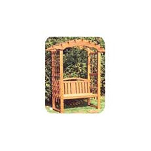 Woodworking Project Paper Plan to Build Arbor with Bench (Garden Arbor Plan)