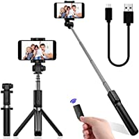 Selfie Stick Bluetooth Extendable Foldable Selfie Stick Tripod Monopod Built-in Wireless Remote Shutter for Iphone X 8 7 6 Plus Galaxy Note S8 Google LG Samsung Blackberry Huawei and More