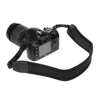 BIRUGEAR Black Anti-Slip DSLR Camera Neoprene Neck/Shoulder Strap for Canon, Nikon, Sony, Panasonic, FujiFilm, Olympus and more Digital SLR Camera