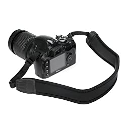 Birugear Black Anti-slip Dslr Camera Neoprene Neckshoulder Strap For Canon, Nikon, Sony, Panasonic, Fujifilm, Olympus & More Digital Slr Camera