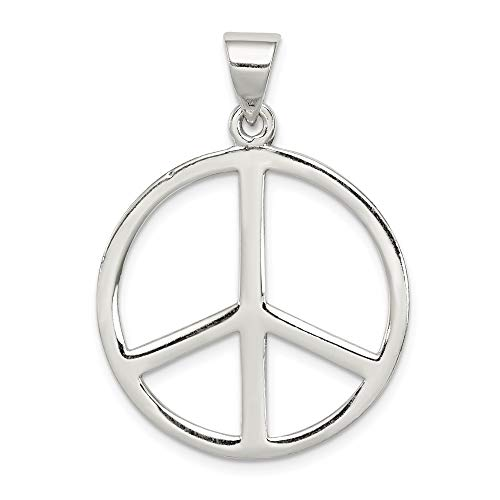 - 925 Sterling Silver Peace Symbol Pendant Charm Necklace Fine Jewelry Gifts For Women For Her
