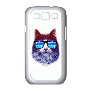 cool cat Samsung Galaxy S3 9300 Cell Phone Case White LMS3885863