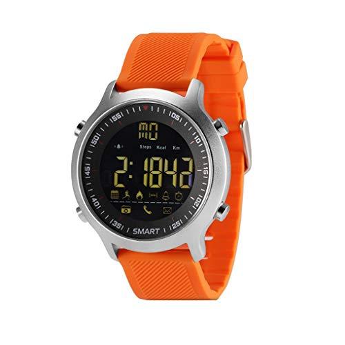 KOROWA LEMFO EX18 IP67 Waterproof Pedometer Smart Watch Message Phone Call Reminder for Android for iOS Phoneorange by KOROWA