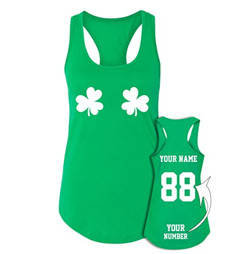 2 Shamrocks Custom Jerseys St Patrick's Day Tank Tops - Saint Pattys -