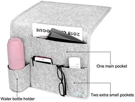 Hanxin - Mesita de Noche con Bolsillo para el móvil de Control Remoto de la Botella de Agua Felt sofá Cama Organizador: Amazon.es: Hogar