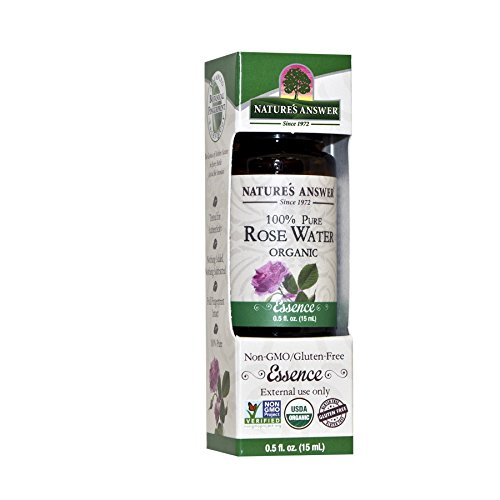 (Nature's Answer 100% Pure Organic Essential Oil, 0.5-Ounce, Rosewater)