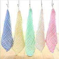 Pack de 5 muselinas reusables para bebé - 6 capas de algodón ultrasuave - Para usar como cobija o toalla - Presente para recién nacidos y para fiestas Baby Shower