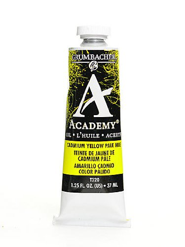 Prismacolor Academy Oil Colors cadmium yellow pale hue 1.25 oz. (Oil Colors Cadmium Yellow Pale)