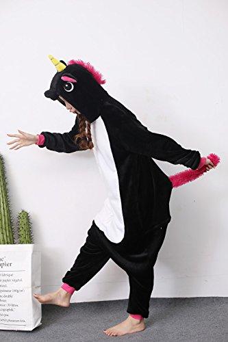 Festival Animal e Design partito Evento Pigiama Nero unico adulti Dress costumi Unicorno bambini per Dolce wHZIxz7H