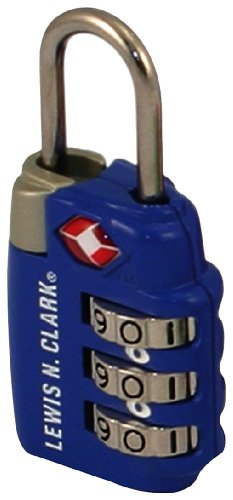Lewis N. Clark TSA-Approved 3-Dial Combination Luggage Shackle Lock