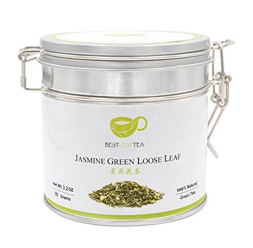 Jasmine Loose Leaf - BESTLEAFTEA-Spring Picked Premium Quality Jasmine Loose Leaf Tea 90g/3.3Oz Tin