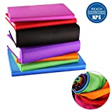 ORASANT 7-Pack Book Covers for Hardcover Textbooks, Stretchable up to 9''x13'', Washable and Recyclable Book Covers with Unique Filming Label for Jumbo Books and Textbook, Extra Large Fabric Book Socks
