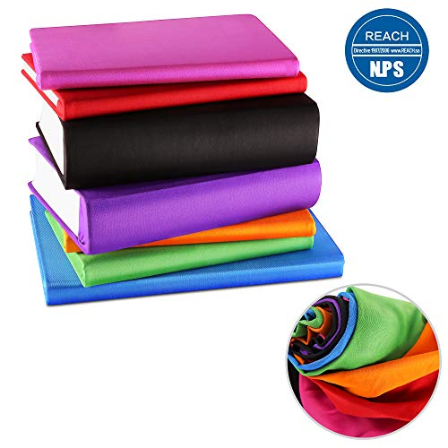 ORASANT 7-Pack Book Covers for Hardcover Textbooks, Stretchable up to 9''x13'', Washable and Recyclable Book Covers with Unique Filming Label for Jumbo Books and Textbook, Extra Large Fabric Book Socks by ORASANT