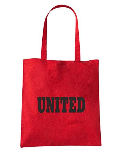T-Shirtshock - Bolsa para la compra WC0698 MANCHESTER Rojo