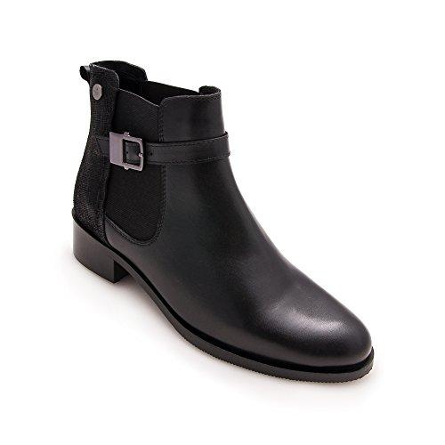 Le Winter Per D'inverno Women Stivali Leather Zerimar Pelle Boots Boots Women For Di Stivali Invernali Donne Di Stivali Winter Zerimar Boots Per Leather Le Donne Pelle For Nere Black qFUw4F