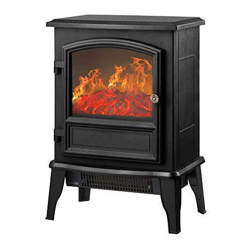 Cheap RKRGQ Electric Fireplace Fireplace Stove Heater Freestanding Fireplace 2000W Log Burner Electric Fire Stove Electric Fireplace Heater with Realistic Flame Effect Overheat Protection(Black) Black Friday & Cyber Monday 2019