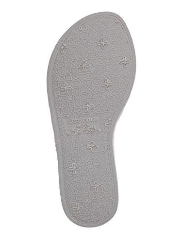 Thearfoams Microvezel Gewatteerde Badstof Pantoffels, Fris Roze, Groot
