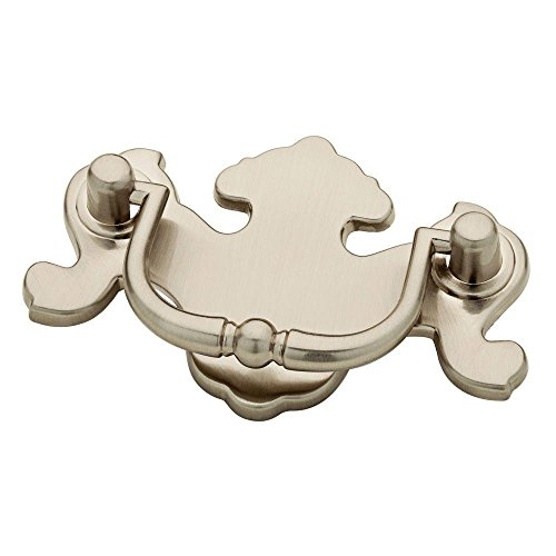 (Chippendale Satin Nickel Drawer Bail Pull Handle 2-1/2