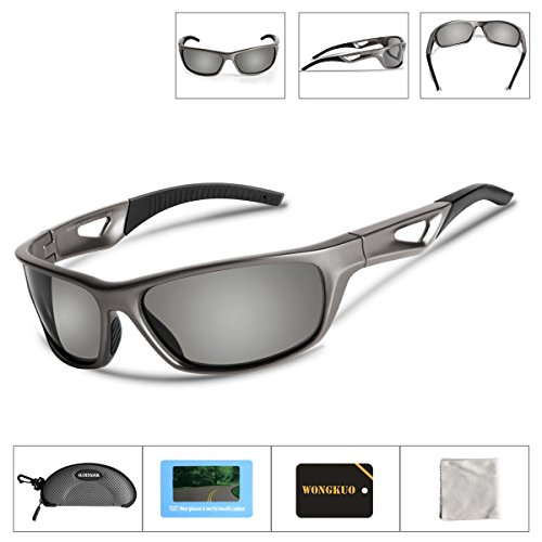 WONGKUO Polarized Sunglasses For Women Men Sports Cycling Glasses UV Protection TR90 Unbreakable Frame Polarized Lenses Lightweight For Outdoor Fishing Running Driving Golf - Fit Asian Sunglasses Cheap