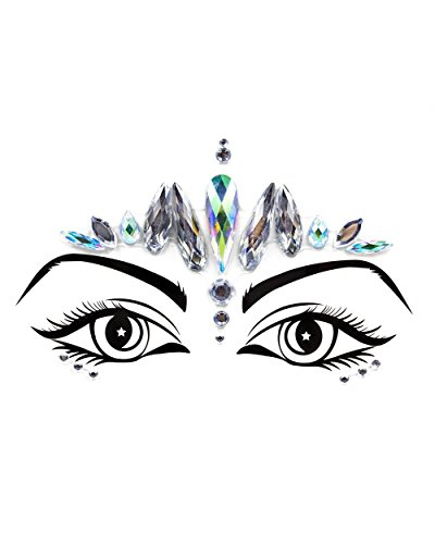 iHeartRaves Silver Princess Festival Face Jewels Beauty Crystal Gem Stickers for $<!--$9.95-->