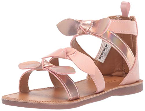 OshKosh B'Gosh Girl's Winona Bow-Accented Strappy Sandal, Light Pink, 8 M US Toddler