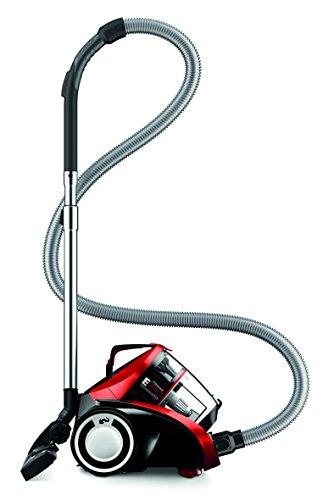 Dirt Devil DD5254-1 rebel54HFC Multicyclone Staubsauger ohne Beutel, EEK A, 800 W Hocheffizienzmotor, 1,8 L Staubbehältervolumen, metal rot