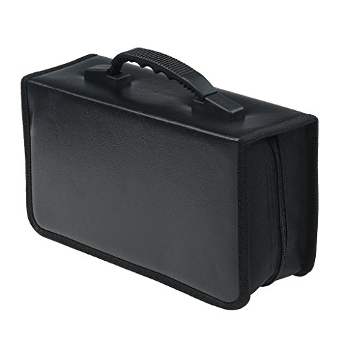 128 Capacity CD/DVD case Wallet, Binder, storage, holder, booklet (Black) 128 Capacity Cd