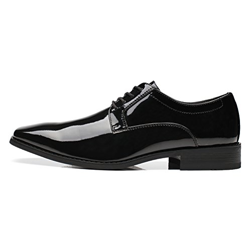 Formal Leather Plain Lace Toe Patent Shoes Shoes black Dress Wedding Oxford Comfortable for Faranzi 2 Business Tuxedo up Sensus Men Sxq1Bt6
