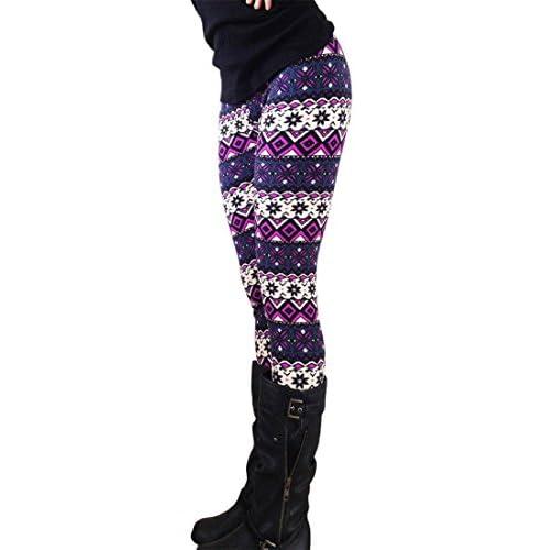 80%OFF Ularma 2016 Moda Impresión geométrica pitillo elástico pantalones  polainas f7927e522610