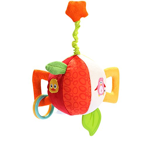 ion Rattle Ball Baby Stuffed Educational Toy Baby Vibrator Toys Baby Rattle Chime Toys Vibrator Rattle Ball Baby Plush Ball toys Discovery Balls (Duck) (Chime Ball Duck)