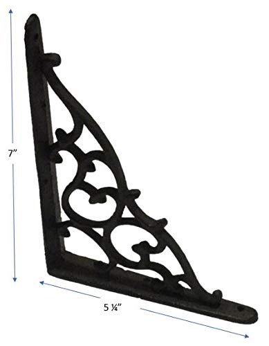 8 Antique Style Shelf Brace Wall Bracket Cast Iron Brackets Vine Garden Shed