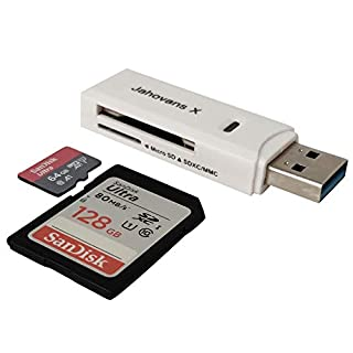 USB 3.0 Micro SD Reader for PC, Laptop, Mac, Windows, Linux, Chrome, SDXC, SDHC, SD, MMC, RS-MMC, Micro SDXC Micro SD, Micro SDHC Card and UHS-I Cards (Black)